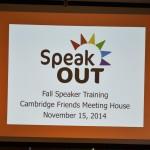 SpeakOUT presentation