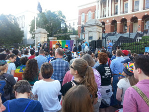 state house crowd