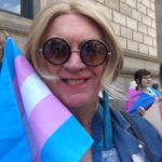 Gabi w trans flag